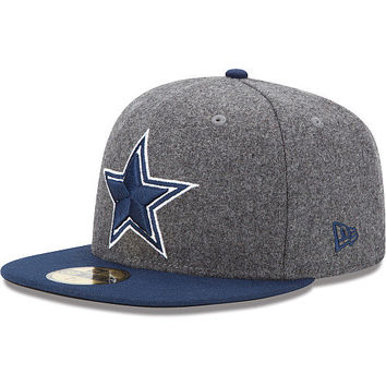 Men's New Era Dallas Cowboys Melton Basic 59FIFTY® Structured Fitted Hat