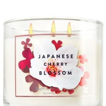 Bath & Body Works Japanese Cherry Blossom 3 Wick Candle 14.5 oz