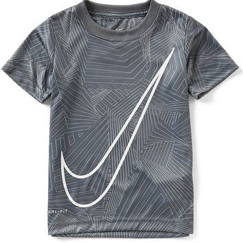 Nike Little Boys 2T-7 Maze Mash Up Swoosh Dri-FIT Tee | Dillards