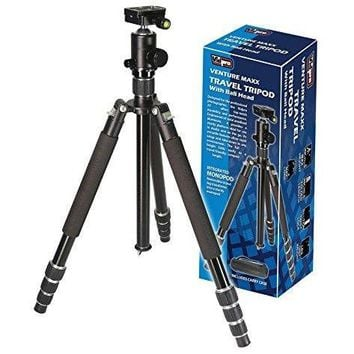 Vidpro AT-62 Venture Maxx 62 Professional Aluminum Travel Tripod with Ball Head & Case