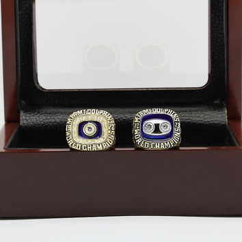 One Set (2PCS) 1972 And 1973 Miami Dolphins Super Bowl Football Championship Ring Size 10-13 Wi
