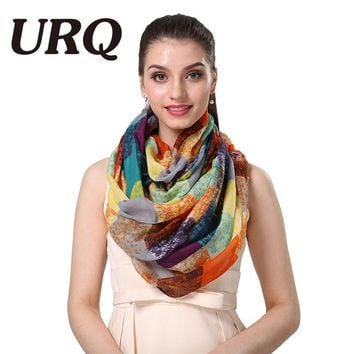 2016 New Tube Scarves Warm For Women Fahion Design Plaid lady Ring Scarfs Infinity Scarf Tube V8A18430