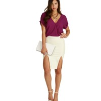 Promo- Ivory On Point Pencil Skirt