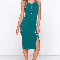 LULUS Exclusive Sweet Nothings Teal Blue Midi Dress