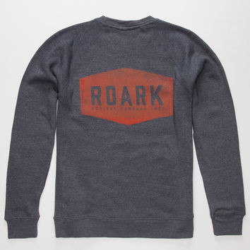 Roark Plaque Mens Sweatshirt Navy  In Sizes