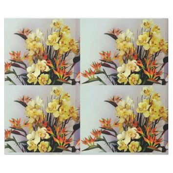 Yellow Iris Flower Arrangement Wrapping Paper