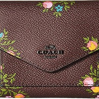 COACH Womens Small Wallet in Cross Stitch Floral Print