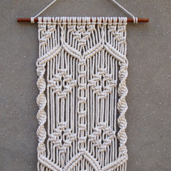 READY TO SHIP Ooak Big macrame wall hanging Macrame fiber art Hippie home decor Housewarming gift Wall-hanging tapestry Unique home decor