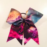 Galaxy Cheer Bow by MyWildBows on Etsy