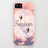 Freedom iPhone & iPod Case by Pink Berry Pattern
