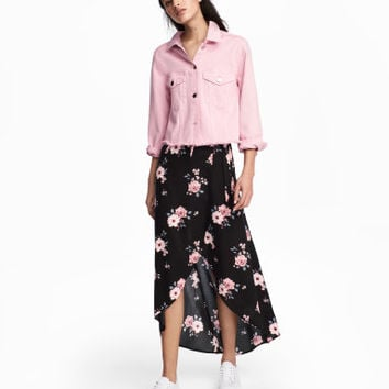 H&M Long Wrap-front Skirt $24.99