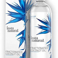 InstaNatural Fractionated Coconut Oil - 100% Pure - Liquid Moisturizer for Skin, Face, Body & Nails - Dry & Damaged Hair Conditioner - Use as Shave Gel, Massage & Bath Oils - Easy Baby Use - 16 OZ