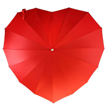 Crimson Heart Umbrella | heart shaped umbrella, rain gear