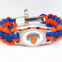 NBA Paracord Bracelet Knicks Team Sport Fan Basketball Friendship Bracelets