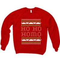 HO HO HOMO TREES SWEATER