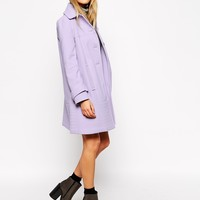 ASOS Coat With Stitch Detail In A-Line