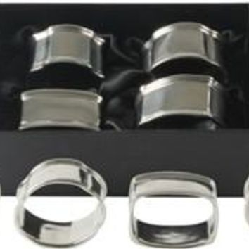 Vagabond House Boxed Set of 4 Pewter Napkin Rings