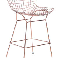 WIRE BAR CHAIR ROSE GOLD PACK OF 2