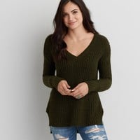 AEO SIDE ZIP SWEATER