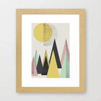 Geometric Abstract Art, Modern, Minimal, Scandinavian, nordic Framed Art Print by Easyposters | Society6