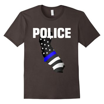 California Police Officer T-Shirt LEO Cops Law Enforcement