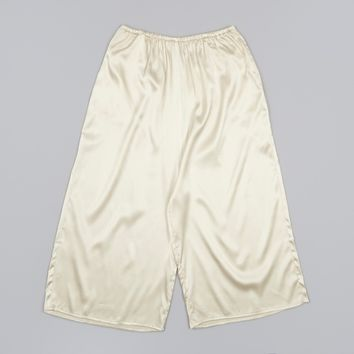 Base Range Martine Silk Skirt Pants - Champagne