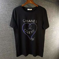 Chanel Woman Men Fashion Round Neck Tunic Shirt Top Blouse
