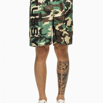 Swimsuit from the S/S2015 Stussy collection in camouflage.