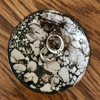 Marble Black and White Porcelain Ring Dish
