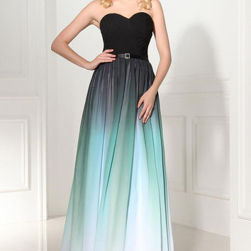 Sweetheart Simple Chiffon A-Line Prom Dresses