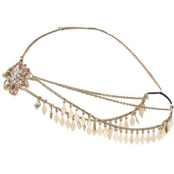 Gold tone embellished hair crown - hair accessories - accessories - women