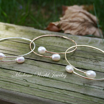 Freshwater Pearl Bypass Bangle