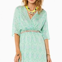 REESE SURPLICE DRESS IN MINT
