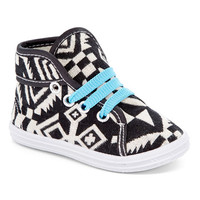 Black & Blue Geometric Sneaker