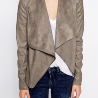 New Look Suedette Waterfall Blazer