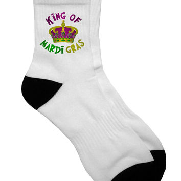 King Of Mardi Gras Adult Short Socks
