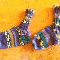 SALE Casual handmade multicolor adult socks, Winter sock,.  Winter socks, Unisex socks, Unique socks, Boot socks, Sleeping socks