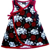 "Kid's ""Skull Rose"" Dress by Conscious Children's Clothes"