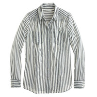 J.Crew Womens Crinkle Stripe Shirt