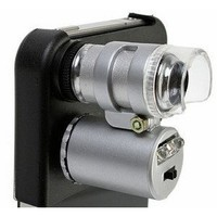 DC For Apple iPhone 4 60x Magnify Microscope with LED Light: Cell Phones & Accessories