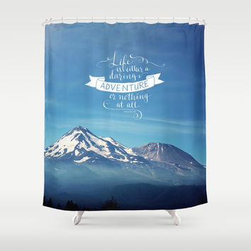 daring adventure Shower Curtain by Sylvia Cook Photography