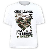 Cheerleading Basic Taining - Only The Strong Survive Printed Cheer T-Shirt