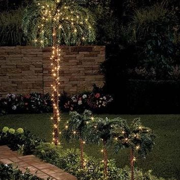 Lighted Palm Tree Indoor Outdoor Shape-able Tropical Decor