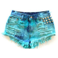 Ocean Inspired, Studded Shorts