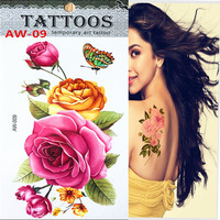 Hot 3D sex products necklace bracelets tattoo metal temporary tattoo women flash metalic fake gold silver tattoos