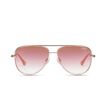 Quay Desi Perkins #QUAYXDESI High Key Mini Rose Sunglasses / Copper Fade Lenses