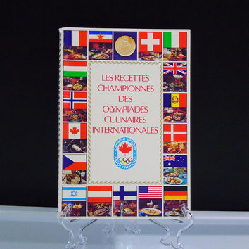 Les Recettes Championnes des Olympiades Culinaires Internationales 1975 Spiral Bound Recipe Book French Edition Fédération Canadienne Chefs