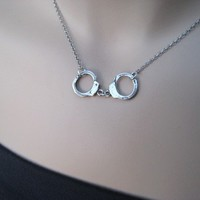Sterling Silver Handcuff Necklace Larger by irisjewelrydesign