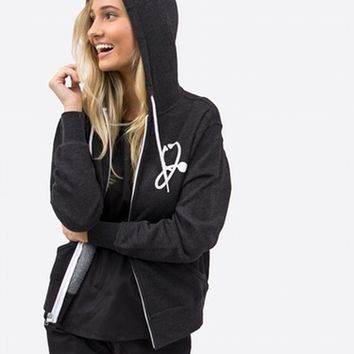 The R2R Hoodie - Charcoal Heather
