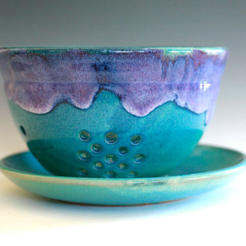 Large Berry Bowl, Ceramic Colander